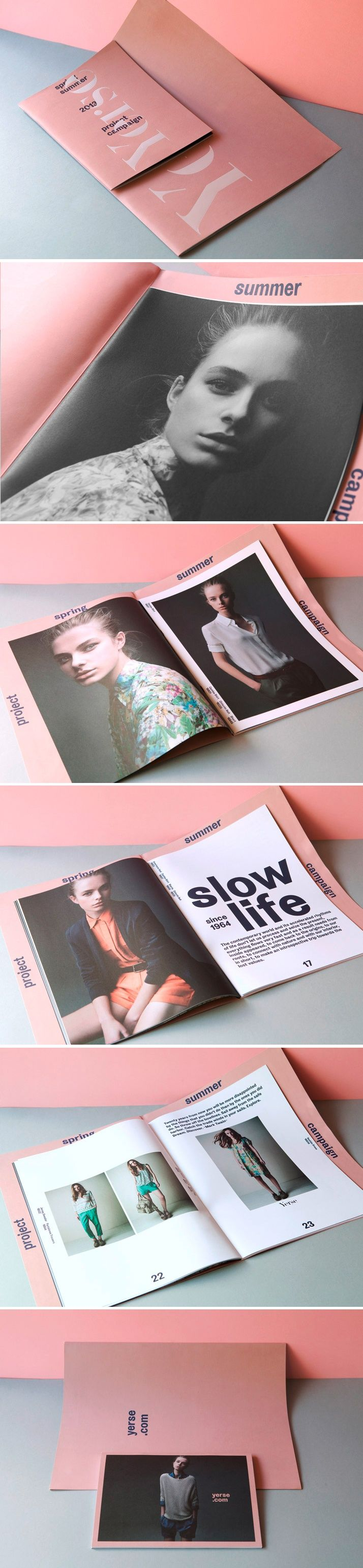 A look book with good balance of imagery and type.