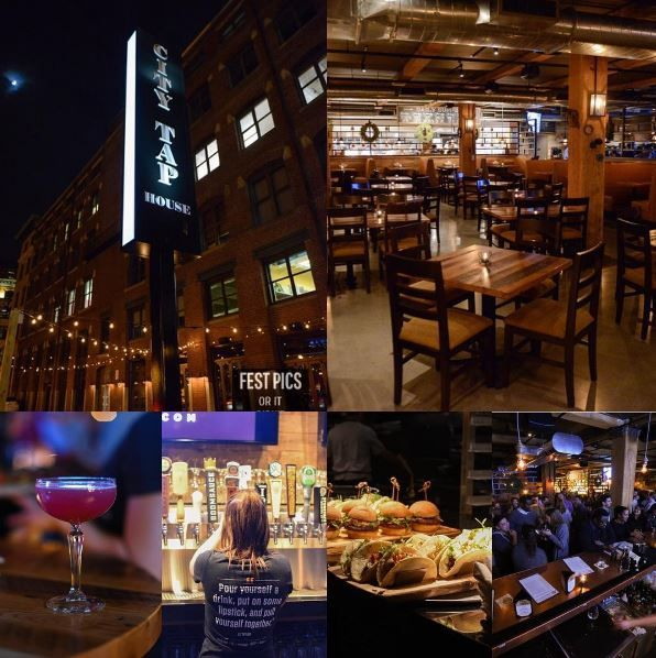 City Tap House   Elevated American pub, Boston Wharf Road at Congress Street in Seaport/Fort Point. Now open for dinner, weekday lunch & weekend brunch!