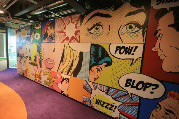 17 best images about pop art wall murals on pinterest for Comic book mural