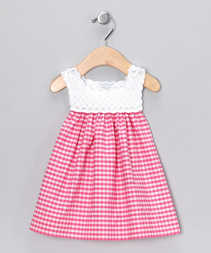 Look what I found on #zulily! Fuchsia Analee Crocheted Dress - Infant by Hug Me First #zulilyfinds
