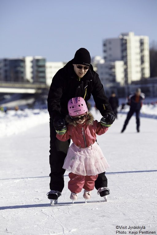 Tour skating track on Lake Jyväsjärvi. ©Visit Jyväskylä Photo: Keijo Penttinen.