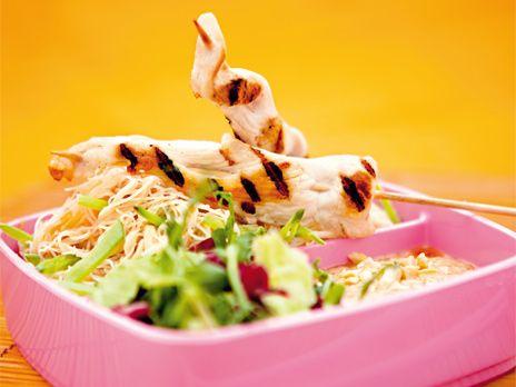 Satay med jordnötssås | Recept från Köket.se