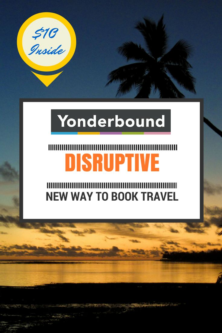 Yonderbound is a new platform to help you plan organize your trip in a Pinterest-esque kind of way.  Save money while you're doing it too.