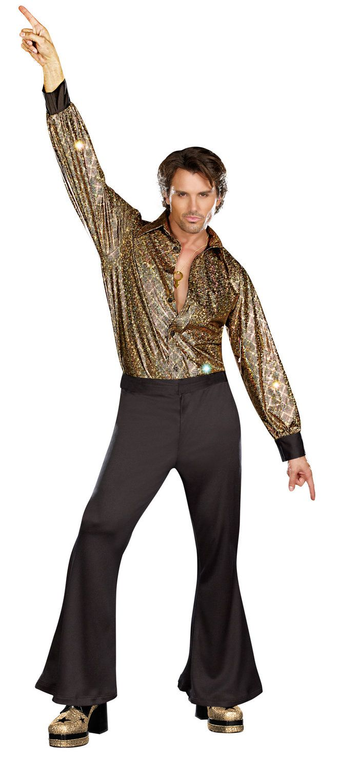 Black 70s Clothes for Men | mens disco stayin alive 70s adult costume 70s costumes this item is ...