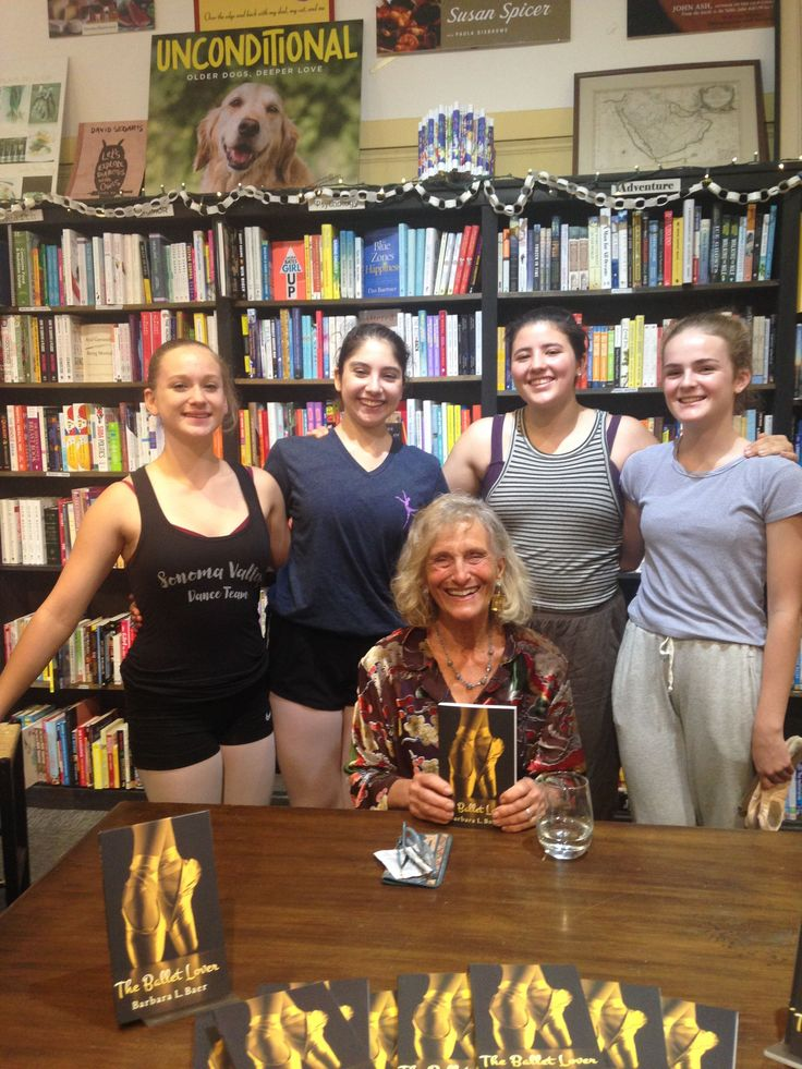 Thank you Readers' Books in #Sonoma and to all the local ballet dancers who performed at the event at the bookstore last Sunday, November 12. Barbara L. Baer had a wonderful time reading from her new novel The Ballet Lover. #books #ballet #dance #BooksAboutBallet