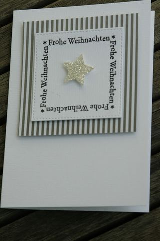 Sentiment in square with star card