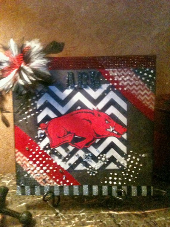 ARKANSAS RAZORBACK TILE large college football by AwsomeAccents, $24.99