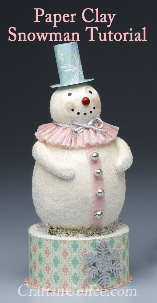 Pastel Paper Clay Snowman: Step-by-Step Instructions