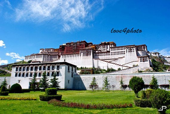 Postcard from Lhasa Tibet The Potala Palace Buddha by love4photo, $15.00