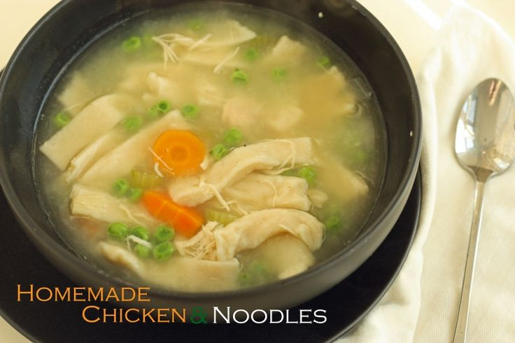 Homemade Chicken and Noodles - great for a chilly fall day!