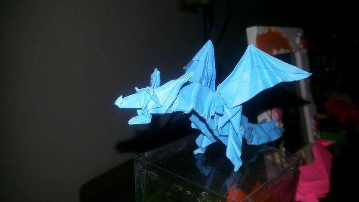 Fiery blue dragon