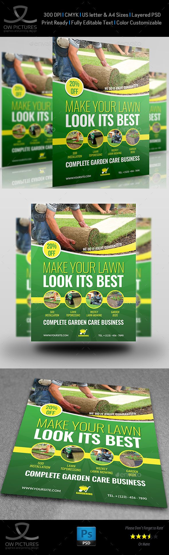 best images about flyer design restaurant garden services flyer template vol 4