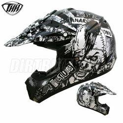 2014 Thh Tx12 Anarchy Motocross Helmet - Black Silver White - 2014 Thh Motocross Helmets - 2013 Motocross Gear - by Thh Helmets