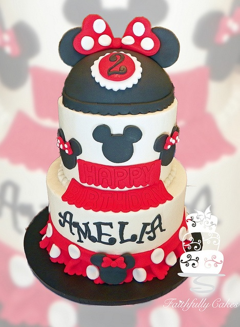 Minnie & Mickey Birthday cake