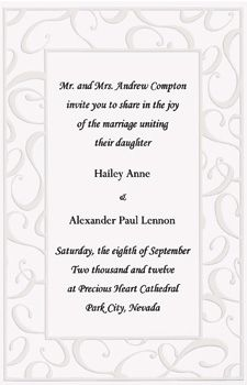Best Invitations Images On Pinterest Wedding Stationery - Wilton wedding invitation templates