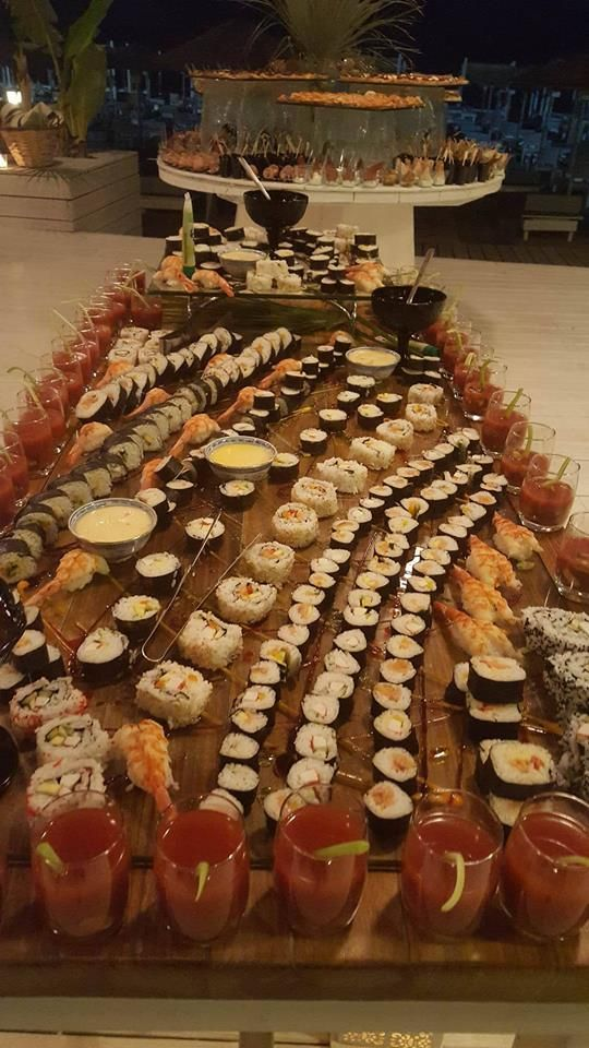 Sushi buffet prepared by Esperos Palace & Mare Culinary team !