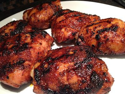 Old Farmhouse Cooking: Spicy Honey Grilled Chicken Thighs