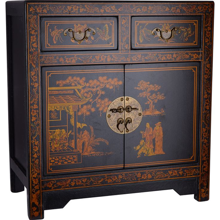 Black oriental bedside cabinet tk maxx chinoiserie pinterest Tk maxx home bedroom furniture