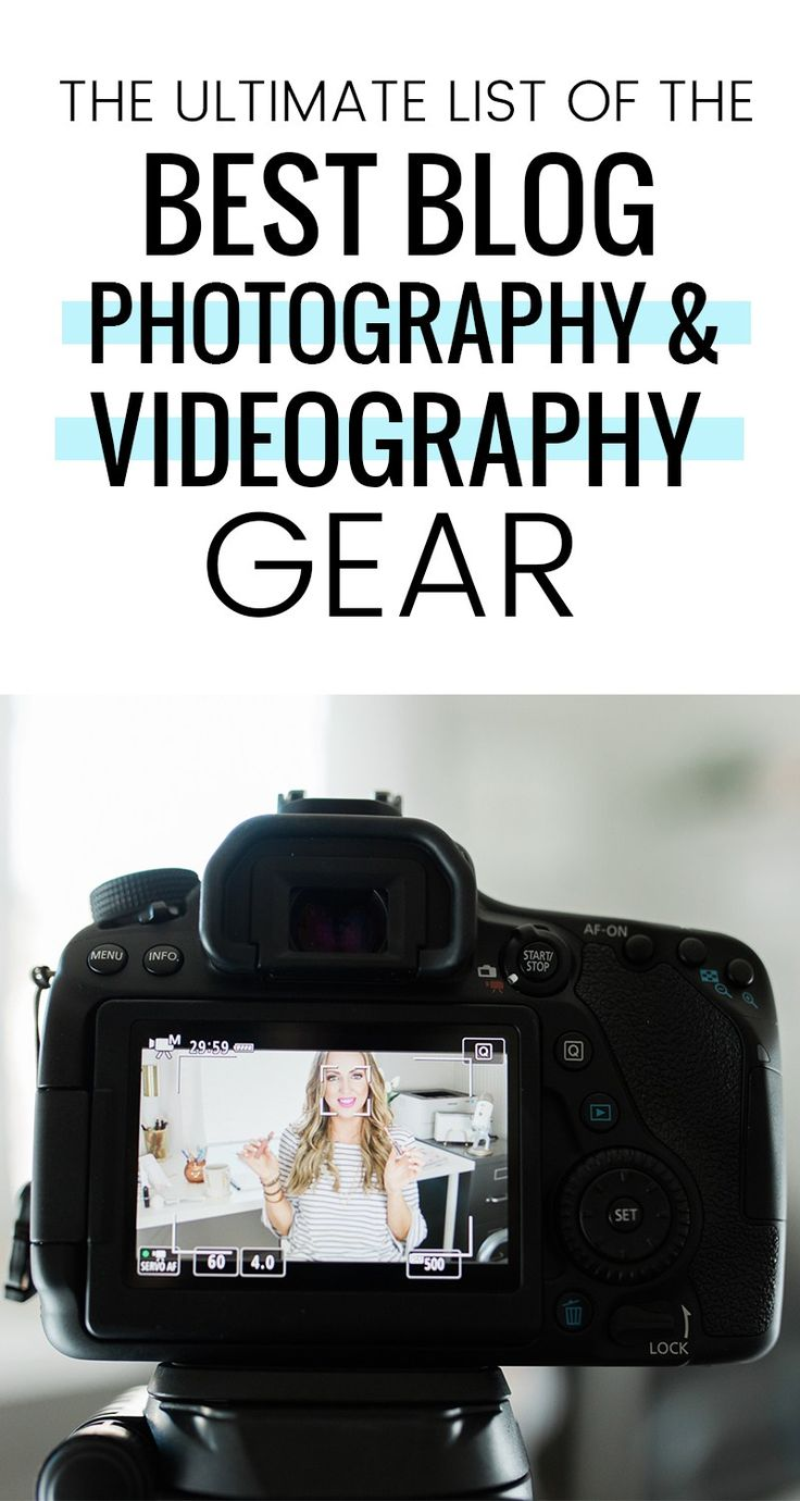 the ultimate list of the best blog photography & videography gear!