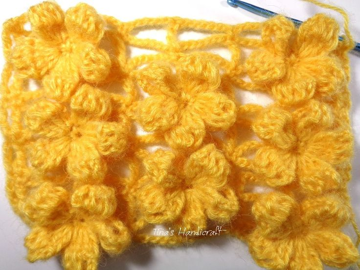 Dreaming about summer just became easier with this adorable flower crochet stitch! Those flower look like they are floating and are a delight to the eye. This is a very lovely stitch that you can use for blouses, scarves, shawls or even afghans. Learn how to crochet this fabulous 3D Crochet Flowers In The Relief …