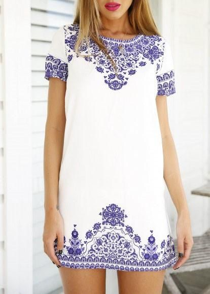 25  best ideas about Blue and white dress on Pinterest | Blue and ...