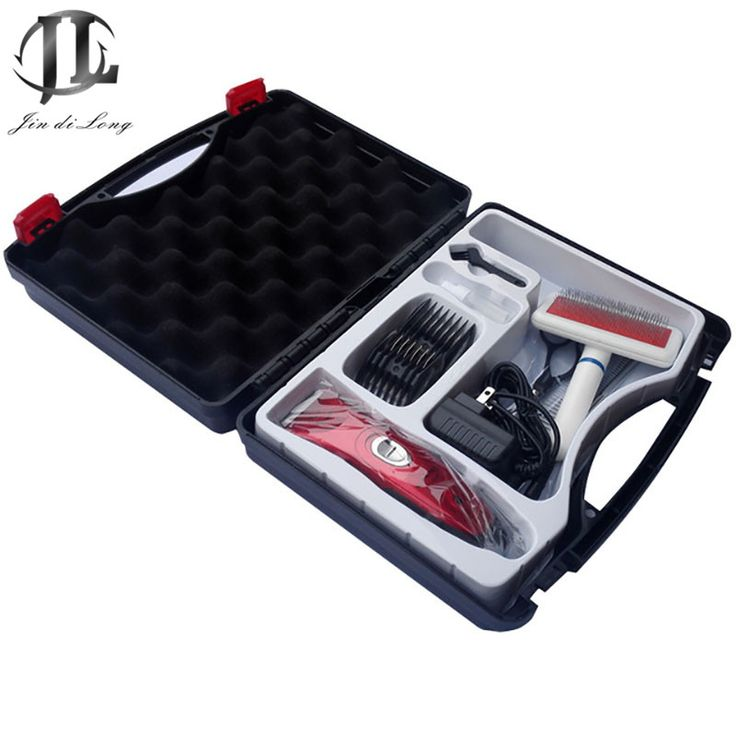 Beauty Tool Kit Toolbox  Dog Hair Trimmer + Massage Air Cushion Brush +Stainless Steel Comb Row + Full Steel Scissors Straight