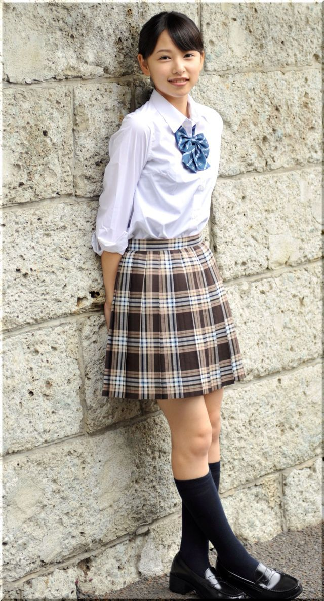 Plaid skirt amateur petticoat cunt #13