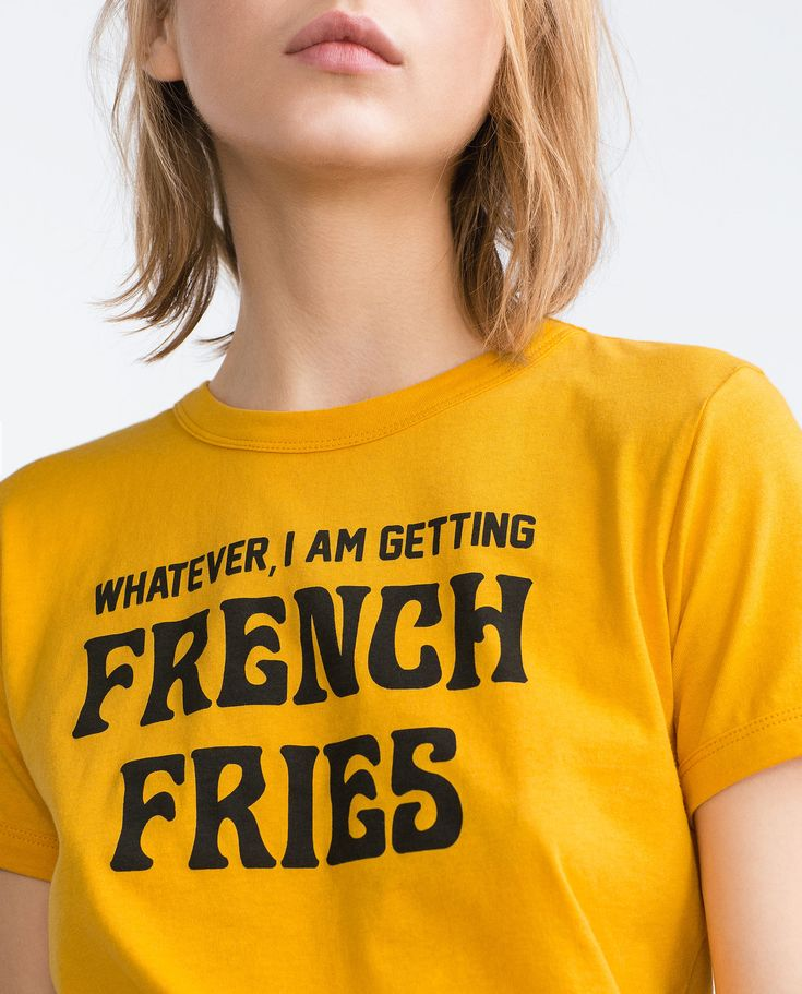 """Whatever, I am getting french fries"" RETRO T - SHIRT - T - shirts - TRF 