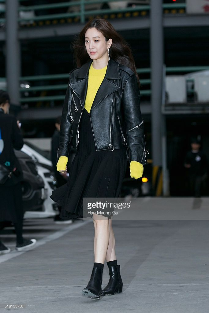 South Korean actress Jung Ryeo-Won (Chung Reo-Won, Chung Ryo-Won) attends the LUCKY CHOUETTE 2016 S/S Collection on March 29, 2016 in Seoul, South Korea.