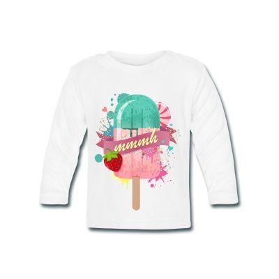 Camiseta de bebé; de manga larga ha sido fabricada en condiciones transparentes y con materiales libres de sustancias nocivas. Cuello redondo con botones automáticos libres de níquel a juego para vestir y desvestir cómodamente. Tejido resistente: 200 g/m² Material: 100 % algodón #mycshop #mycshopspreadshirt #camisetabebe #babytshirt #modabebe #fashionbaby #icecream #helado #adorable #lovely #fresa #strawberry #polo