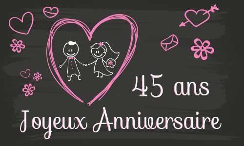 ans fresh carte anniversaire mariage 45