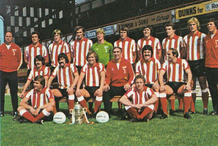 Sunderland team group in 1977.