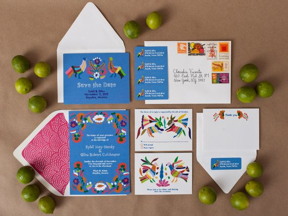 How fab?! Want to stare at these all day. Mexican themed wedding invitations by WeddingInvitationsVP #haciendachic