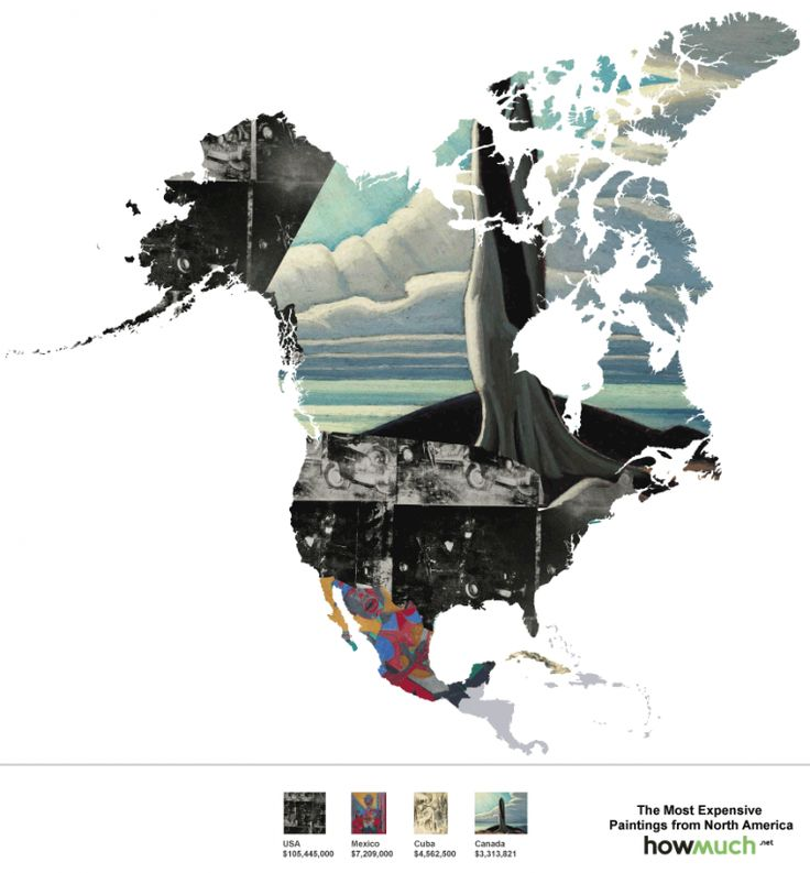 Map of the most expensive paintings around