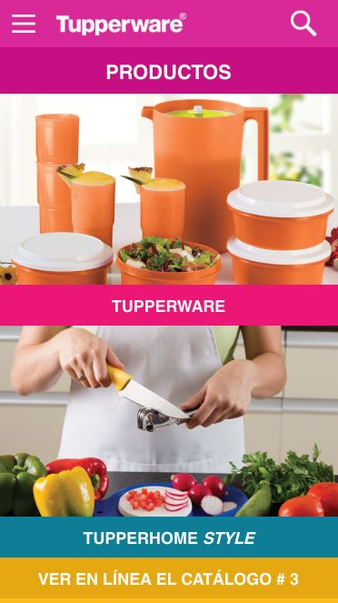 Tupperware Venezuela: captura de pantalla
