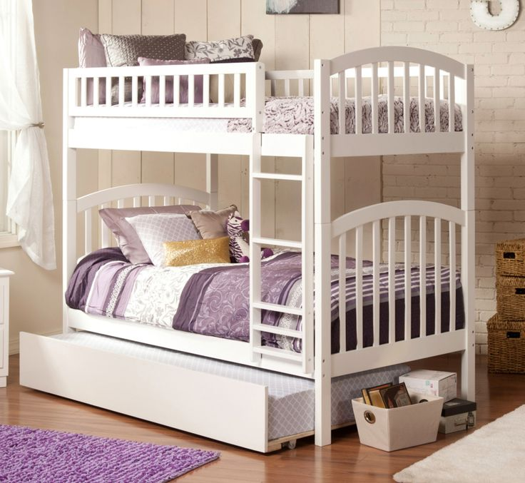 Richland Twin over Twin Bunk Bed in White by Atlantic