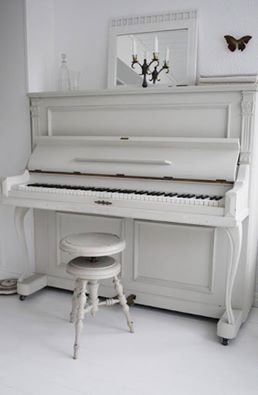 Beautiful white piano
