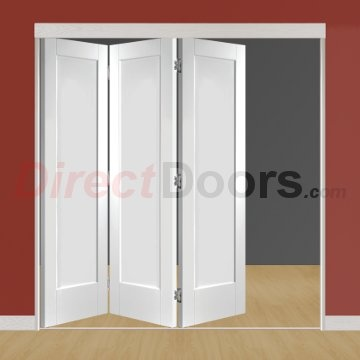 Image of Freefold White Pattern 10 Style Folding 3 Door Set, Height 2090mm, Width 1890mm