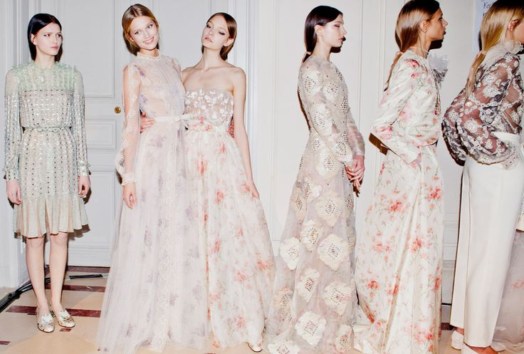 Valentino S/S 2012 HC backstage (via Vogue): Pajamas, Fashion Weeks, Paris Fashion, Spring Couture, Bridesmaid Dresses, Gardens Parties, Valentino Couture, Floral Dresses, Haute Couture