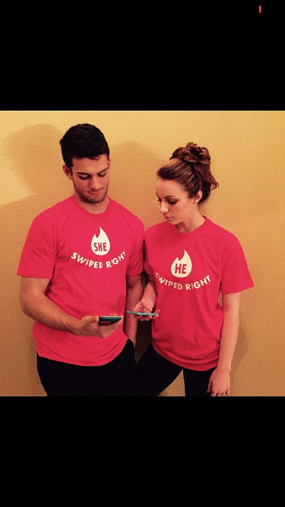 Tinder matching swipe right Tees by NielsenDesign on Etsy