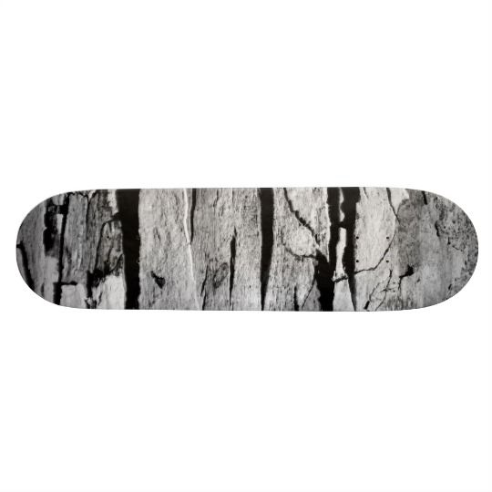 Black and White Wood Print Skateboard