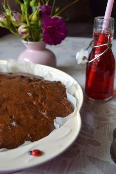 Gâteau renversé à la rhubarbe {sans lactose} - La cuisine d'Anna et Olivia