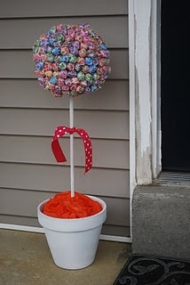 sucker tree, i love these for birthday parties, like sweet 16th