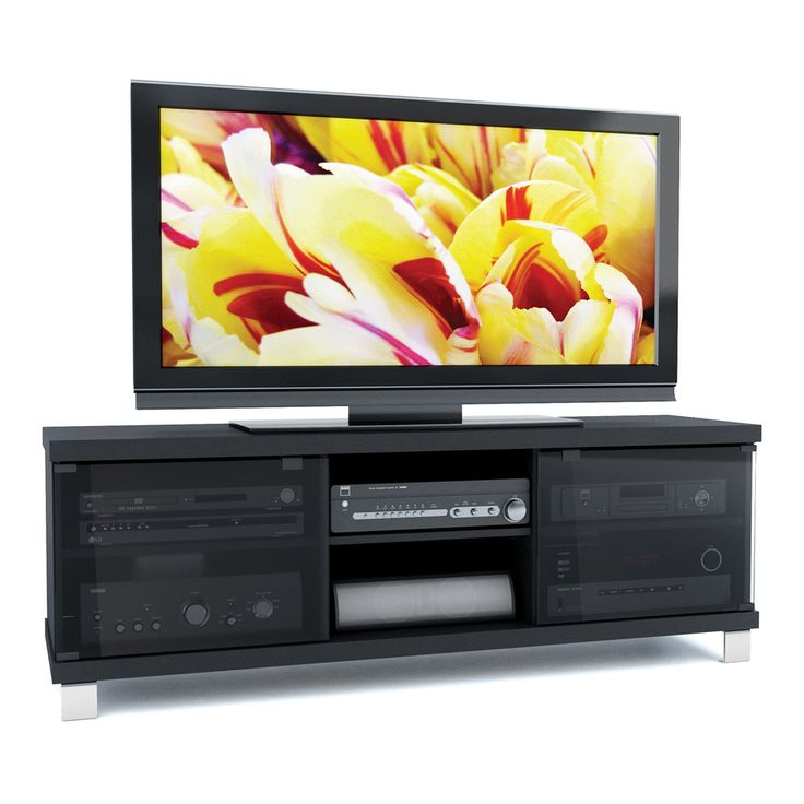 shop sonax holland midnight black television stand at lowescom 249