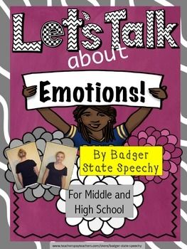 Emotions packet (in-depth) for middle and high school tweens/teens with autism, aspergers, adhd and/or social communication delays. They need an in-depth program to teach them to improve their emotional intelligence and develop a robust emotional vocabulary.