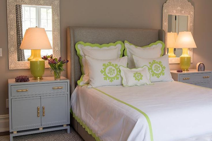 marvellous green grey bedrooms walls | grey and green bedroom features walls painted a warm grey ...