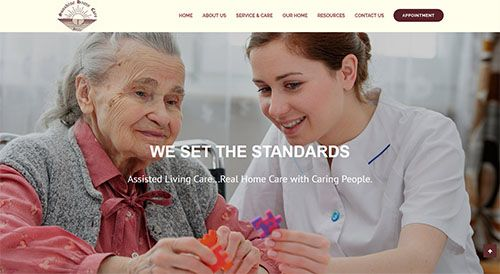 New Responsive website designed for an Assisted Living Facility in Gaithersburg, MD.