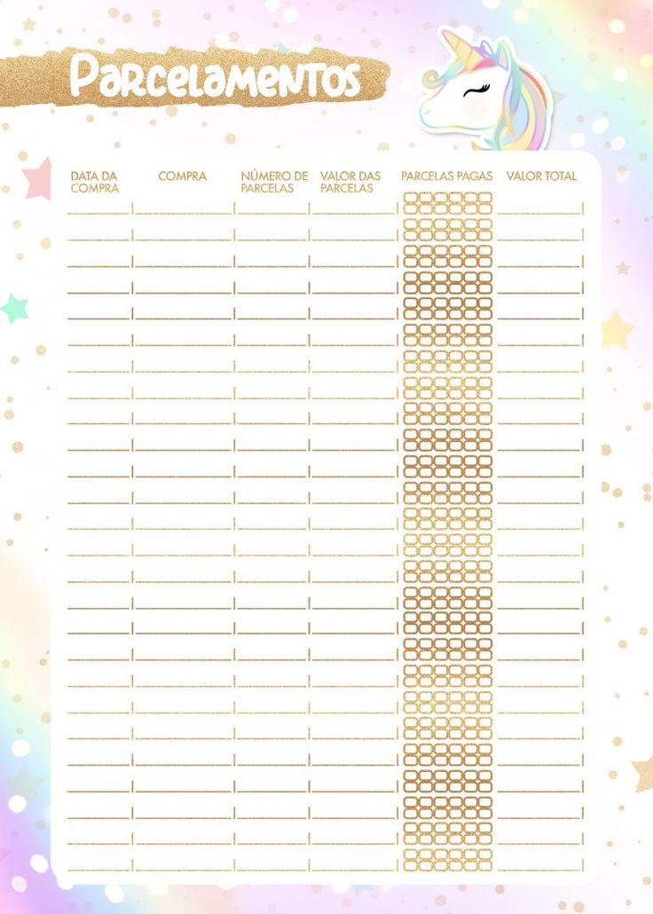 Planner unicornio 2020 parcelamentos planner for Planner casa gratis