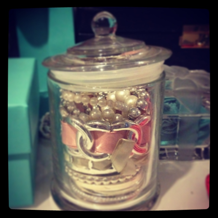 Reuse an empty Glasshouse candle jar to store your bangles and other jewels!