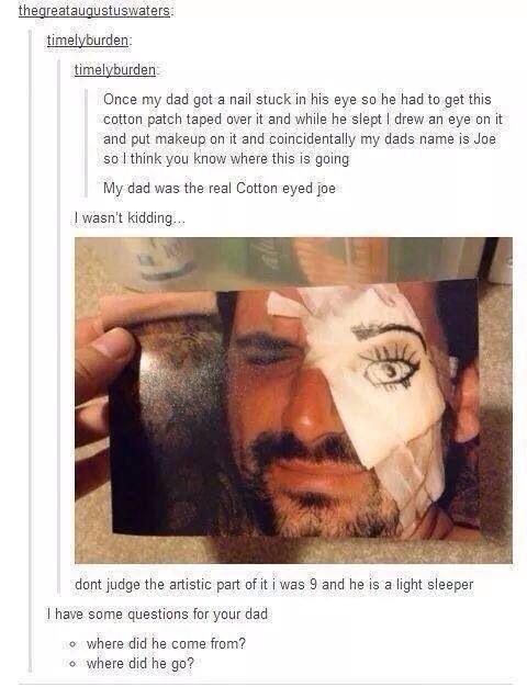 The real cotton eyed Joe